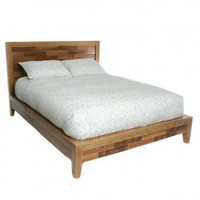 Topanga Wood Collage Bed - VivaTerra