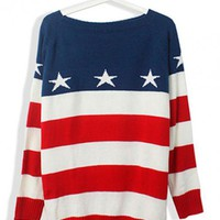 Striped Long Sleeve with Star Sweater$39