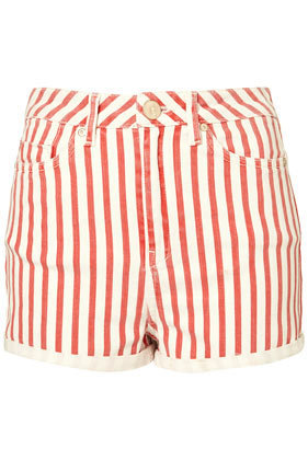 MOTO High Waist Stripe Shorts - New In - Topshop