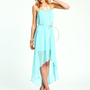 Grecian Hi Low Dress