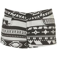 MOTO Aztec Hotpants - Hot Shop  - Designers  Collections  - Topshop
