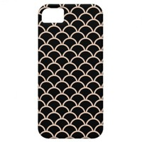 Black Scallop Pattern iPhone 5 Case from Zazzle.com