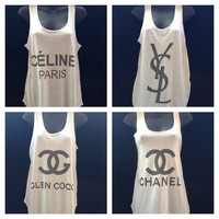 Celine paris  YSL  glen coco  chanel tank tops vest by MTeverest