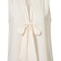 Sleeveless Lace Insert Blouse - Tops  - Clothing  - Topshop