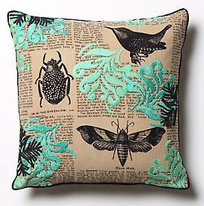 Buzzwords Pillow in green