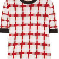 Marni | Checked cotton-blend sweater | NET-A-PORTER.COM