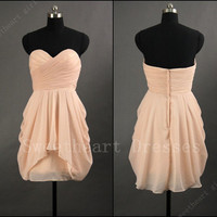 2013 Sexy Cheap Chiffon Short Prom Dress