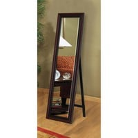 Illuminada - Traditional Cherry Floor Mirror (8620) - Floor - Mirrors