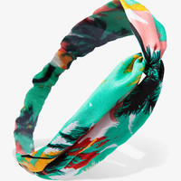 Knotted Tropical Print Headwrap
