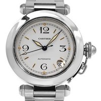 Cartier Pasha Stainless Steel Automatic Watch, 8/10 Condition - Pre-loved Designer Jewelry and Watches - Modnique.com