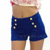 Blue Sky Sailor Button Front Shorts