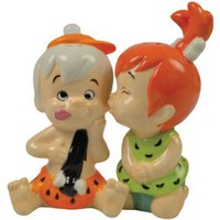 Westland Giftware The Flintstones Magnetic Bamm Bamm and Pebbles Salt and Pepper Shaker Set, 3-3/4-Inch