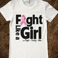 Breast Cancer Ribbon Fight Like a Girl Shirts - Fight Like a Girl Shirts