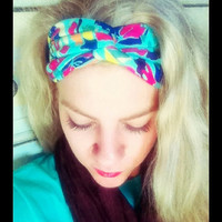 Floral Vibrant Spring - Stretch Twist Headband