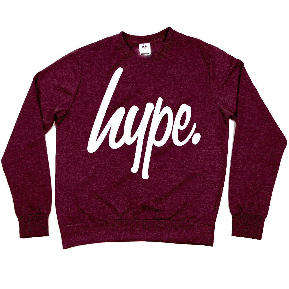 hype clothing hype maroon crew from hypeclothinguk