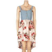 LOTTIE & HOLLY Chambray Floral Hi Low Dress 208690575 | Dresses | Tillys.com