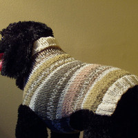 Dog Sweater Hand Knit Oasis Med/Lrg 165 inches Length by jenya2
