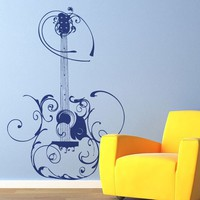 Vinyl Wall Decal Sticker Art Artsy Guitar by wordybirdstudios