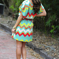 For The Love Of Chevron Dress: Multi | Hope&#x27;s