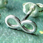 Infinity Earring Single Stud Post Earring in by phoebestreasure
