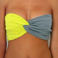 Spandex Bandeau -- Half Citrus