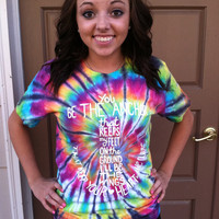 SHORT SLEEVE tie dye anchor t shirt  - MayDay Parade