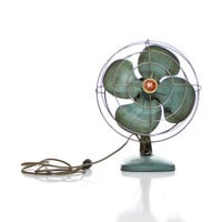 Teal GE Vintage industrial fan