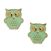 A Little Owl Told Me Earrings | Mod Retro Vintage Earrings | ModCloth.com