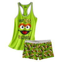 Sesame Street Junior&#x27;s Tank &amp; Short Sleep Set - Oscar the Grouch