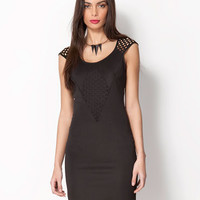 Bershka United Kingdom - Bershka net detail dress