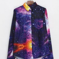 Stylish Galaxy Print Shirt$49
