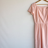 vintage 50's Adele Martin linen dress wedding pink by HOUSEofSTASH