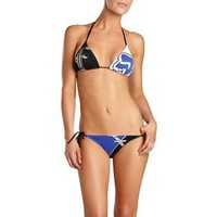 Fox Racing  Fox Racing Solitaire String Triangle Women's Top Bathing Suit Swimwear - Black / X-Small