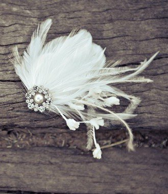 OLIVIA – feather bridal hair piece | Percy Handmade