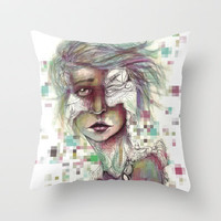 Hominal Cybernated Throw Pillow by Ben Geiger