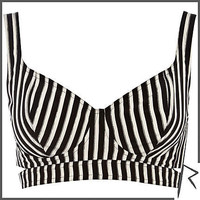 Black and white Rihanna striped bra top - tops / t-shirts - rihanna for river island - women