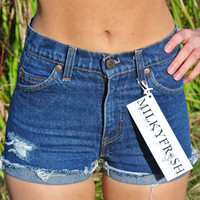 "High Waisted Shorts Size 0 Levi's Cutoffs Milky Fr3sh ""Blake"""