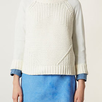 Knitted Mixed Rib Jumper - Knitwear  - Clothing