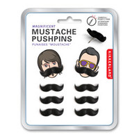 Mustache Push Pins - See Jane Work