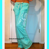 *VICTORIA'S SECRET PINK BOYFRIEND PANTS LOVE PINK LIGHT WEIGHT BAGGY large