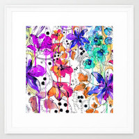 Lost in Botanica Framed Art Print by Holly Sharpe | Society6