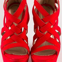 Criss Cross Wedge Sandals - Lucky 21