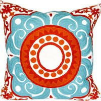 One Kings Lane - Design-Blogger Tag Sale - Embroidered Pillow