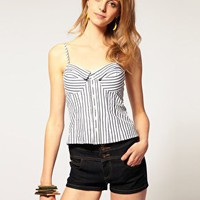 ASOS | ASOS Stripe Corset Top at ASOS