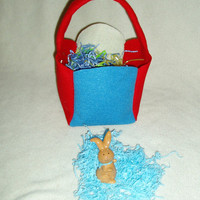 Red White and Blue Easter Basket Felt by BrennysBibbies on Etsy