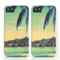 Summer Love &amp; Anchor Vintage Beach iPhone Cases by RexLambo | Society6