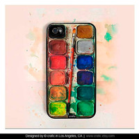 iPhone 4 case iPhone 4s case  Watercolor Set iPhone Hard by CRAFIC
