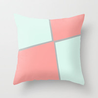 Strawberry meringue Throw Pillow by Bruce Stanfield
