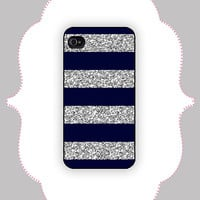 iPhone  Case-Real Glitter Stripe- iPhone 4 Case, iPhone 4s Case, iPhone 5 Case, Monogram Case, Personalized iPhone Case