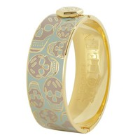 Alexander McQueen | MINT ENAMEL SNAP BANGLE